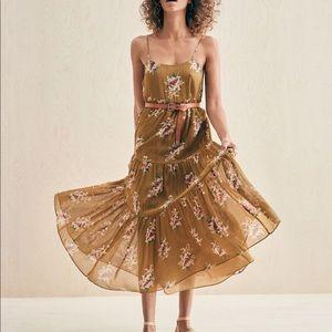 NWT Madewell cami tier floral midi dress